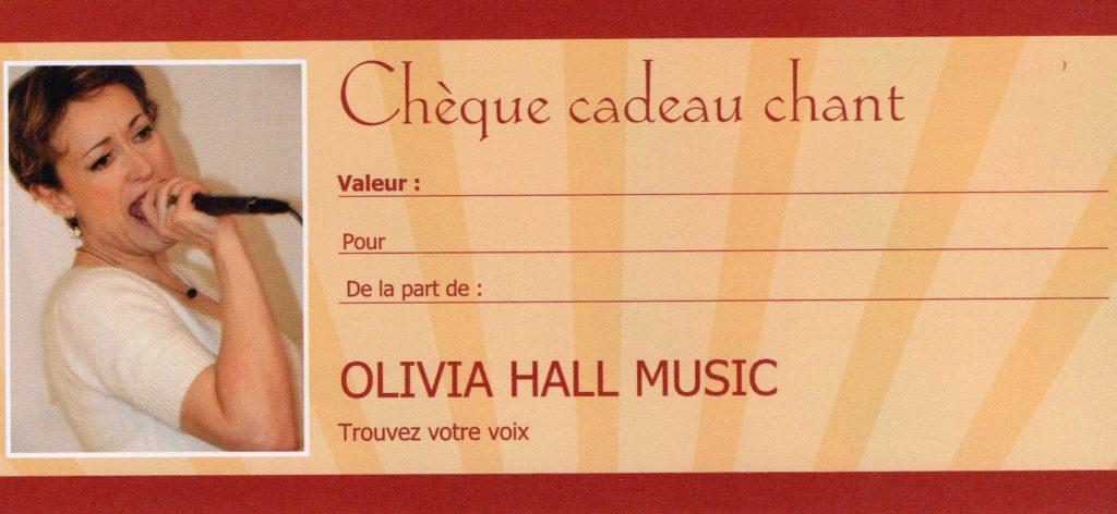 Achetez facilement les cartes cadeaux chant OLIVIA HALL MUSIC en ligne pour offrir de bonnes ondes !